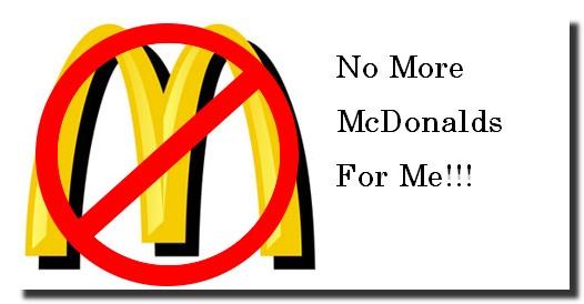 no mcdonalds