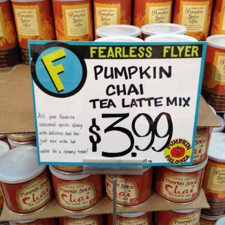 trader joe's pumpkin chai tea latte
