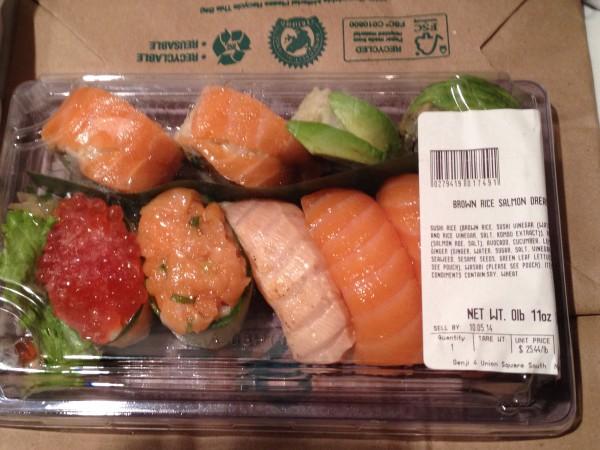whole food's sushi