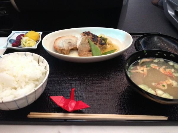 JAL ビジネスクラスの和食2