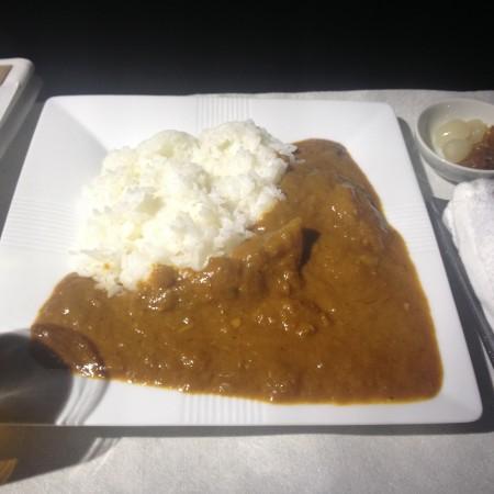 JALビジネスクラスの間食1