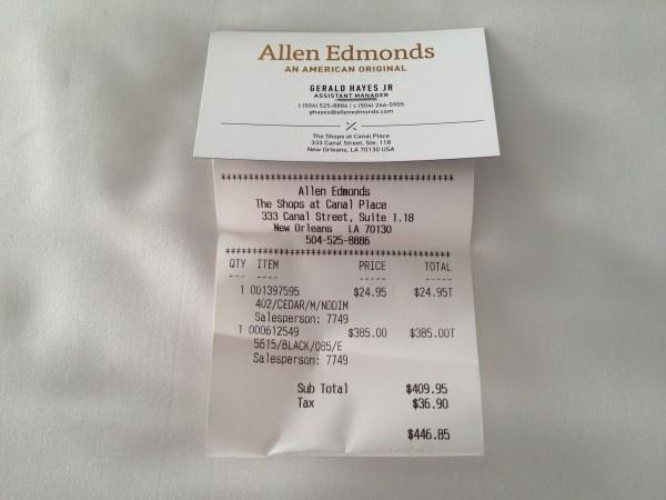 アレンエドモンズの値段