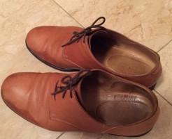 革靴の雨シミ1