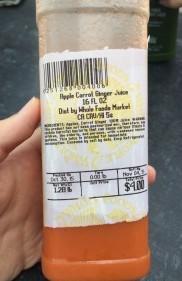 ハワイのホールフーズのジュース2