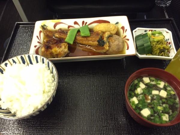 JAL777ビジネス搭乗機 和食2